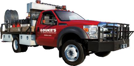 Duke's red Work truck